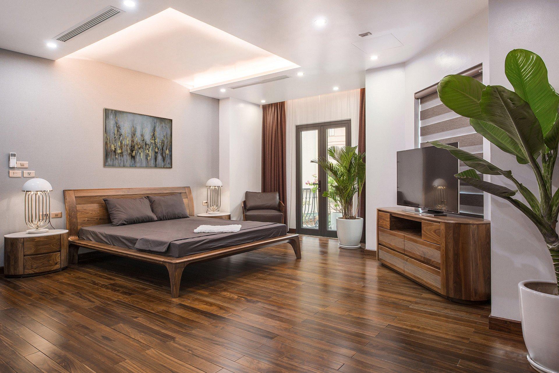 Thiết kế phòng ngủ rộng rãi, thoải mái