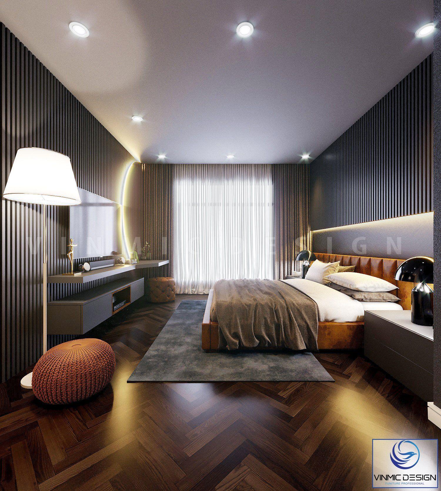 Thiết kế phòng ngủ với sự tận dụng ánh sáng từ thiên nhiên