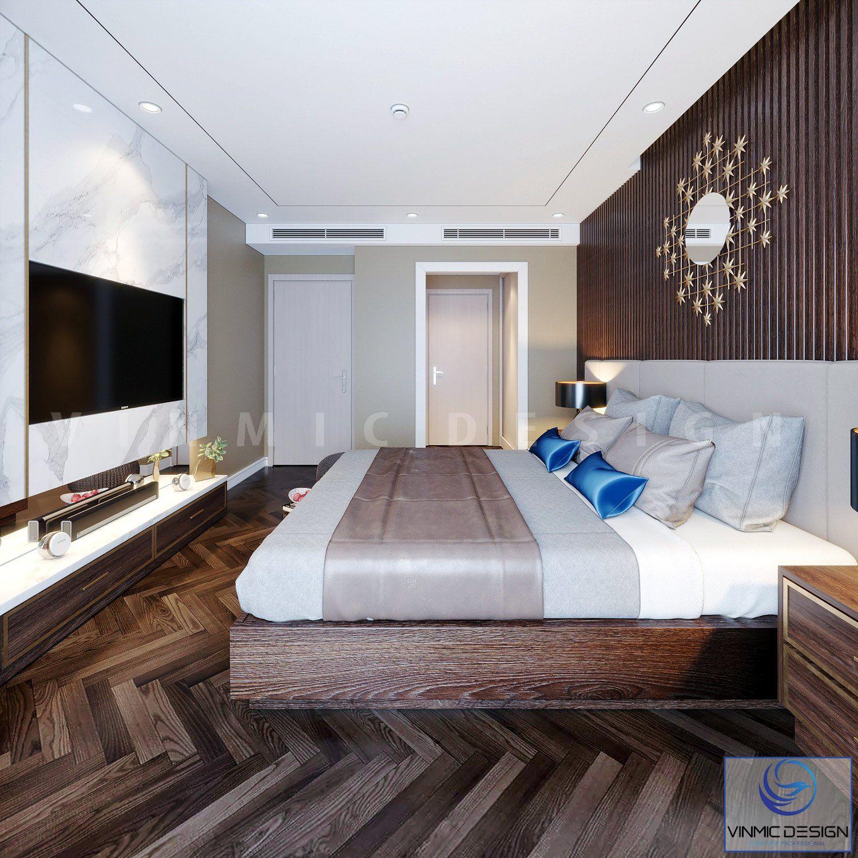 Không gian gọn gàng của phòng ngủ