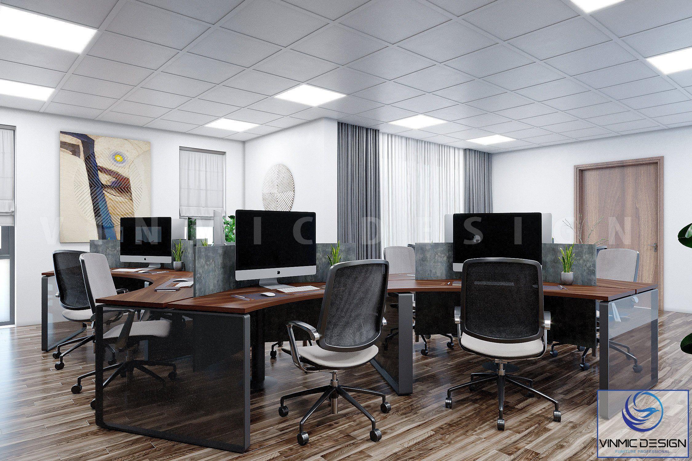 Chỗ ngồi làm việc được thiết kế đầy khoa học và hợp lí