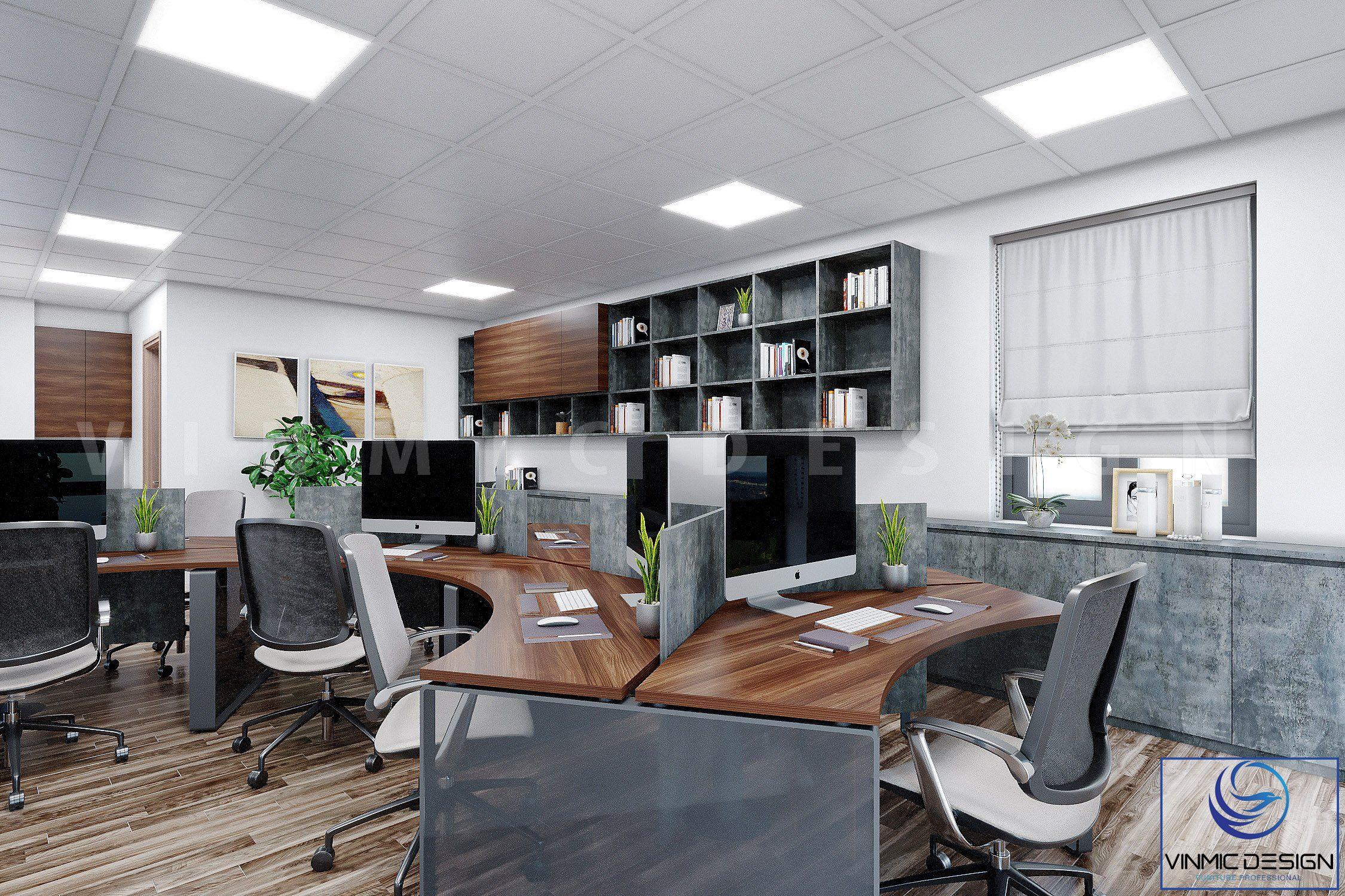 Thiết kế bàn vòm, thể hiện sự đẹp mắt và công năng sử dụng căn phòng này