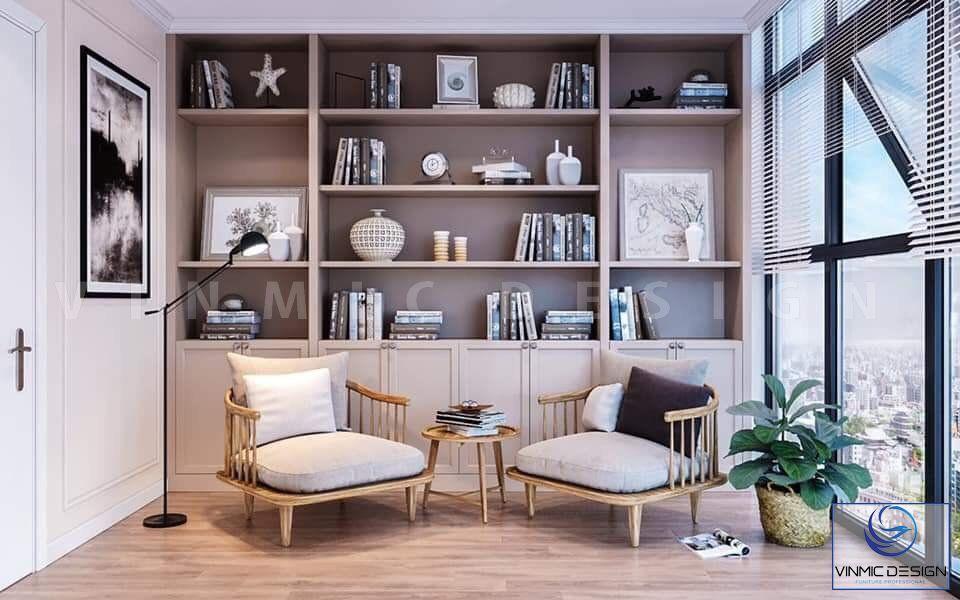 Không gian thư giãn của phòng đọc sách