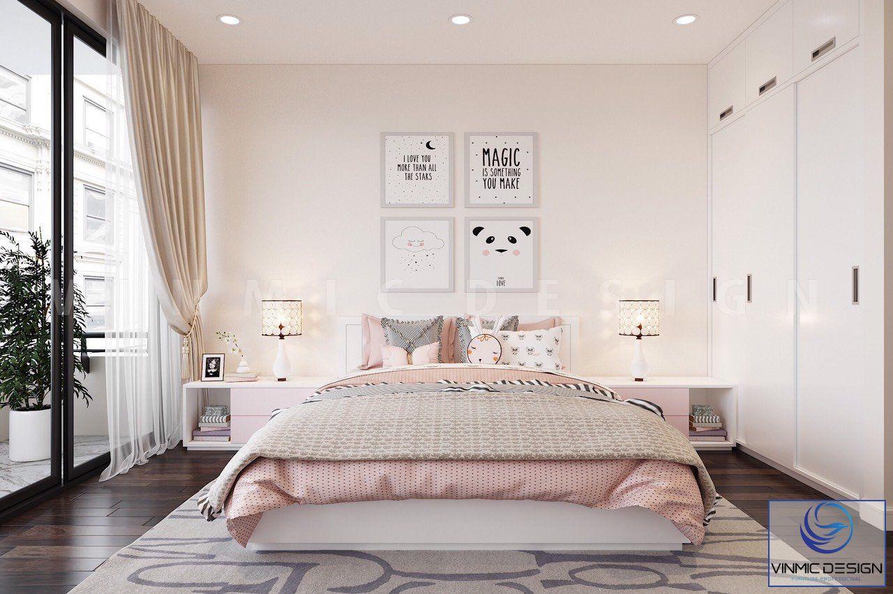 Phòng ngủ bé gái được thiết kế rất dễ thương