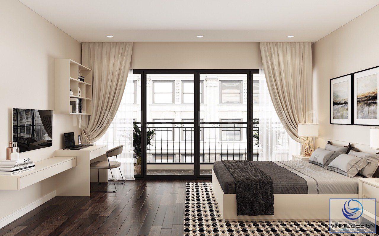 Không gian phòng ngủ đầy đủ tiện nghi