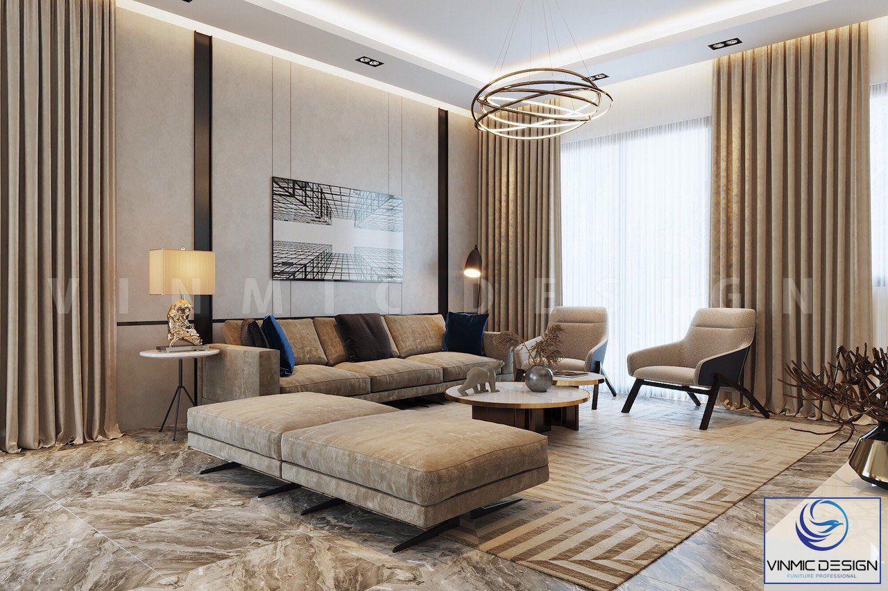 Bộ sofa chất liệu nỉ cao cấp, tôn lên sự đẳng cấp cho phòng khách