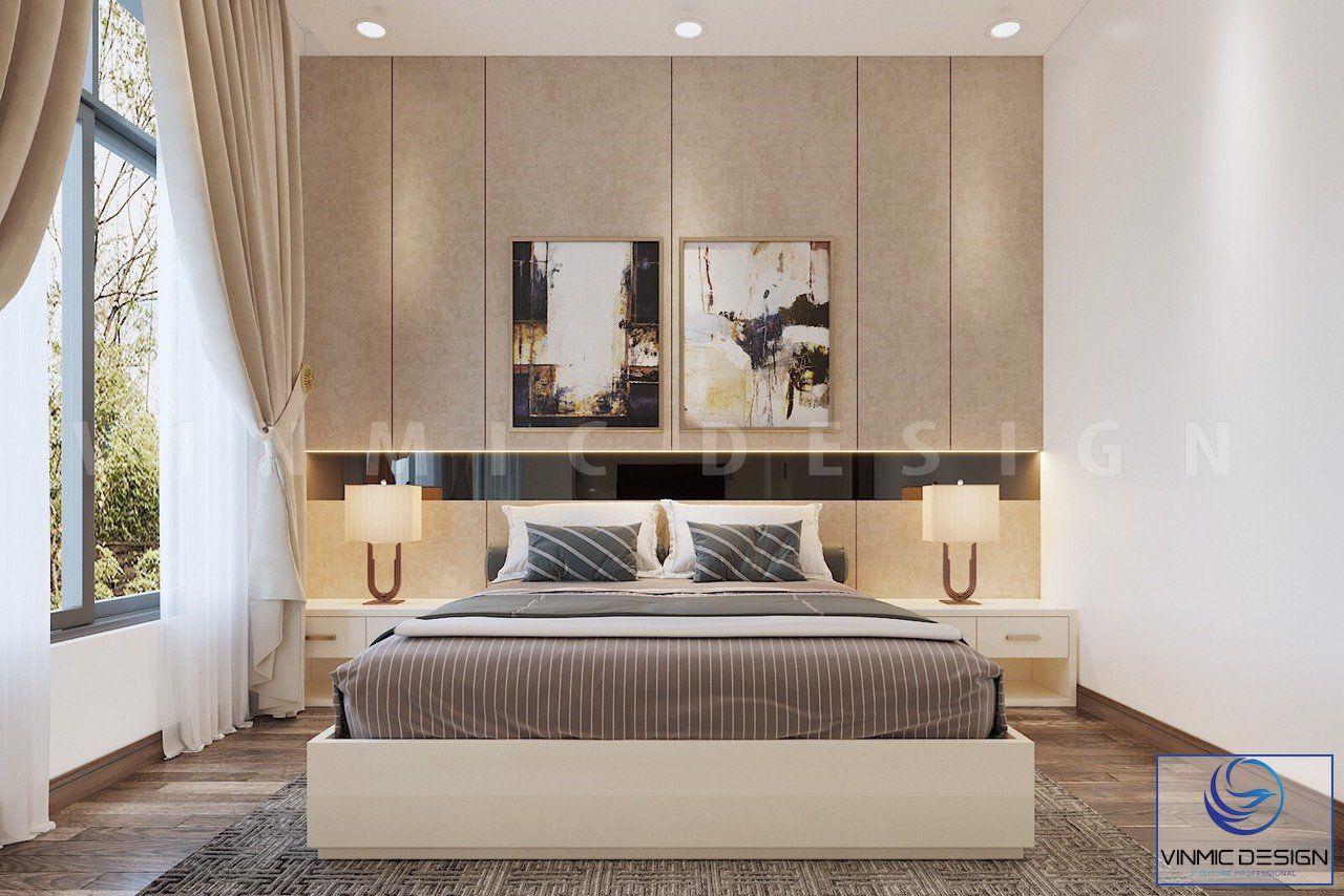 Không gian phòng ngủ đơn giản, tiện lợi