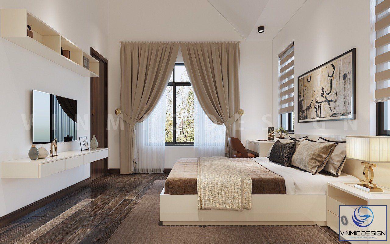 Phòng ngủ được thiết kế gọn gàng và khoa học