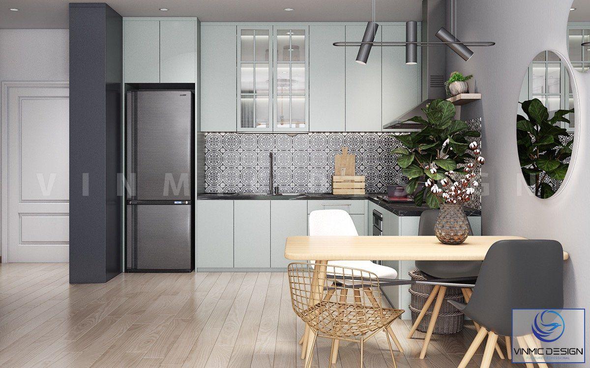 Không gian phòng bếp nhỏ nhưng đầy đủ công năng