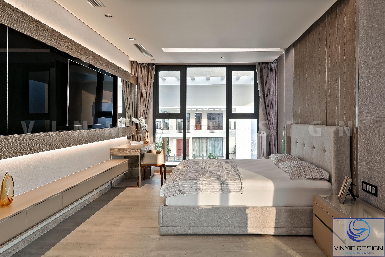 Phòng ngủ được bố trí đầy đủ trang thiết bị