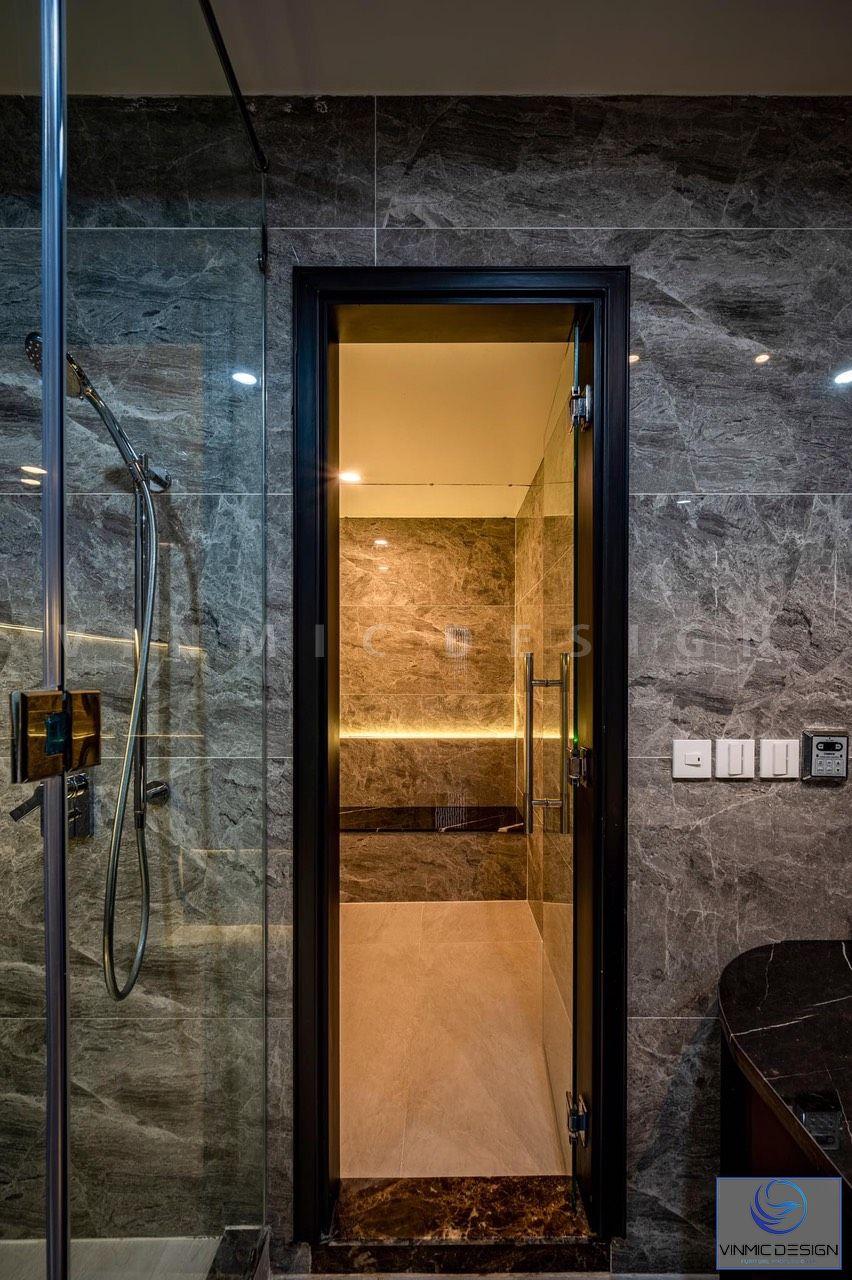 Phòng tắm được ốp gạch cao cấp