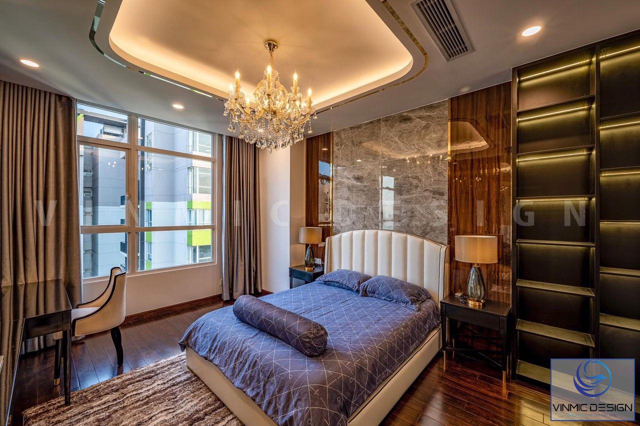 Các chi tiết tủ gỗ trong phòng ngủ được sắp xếp khoa học