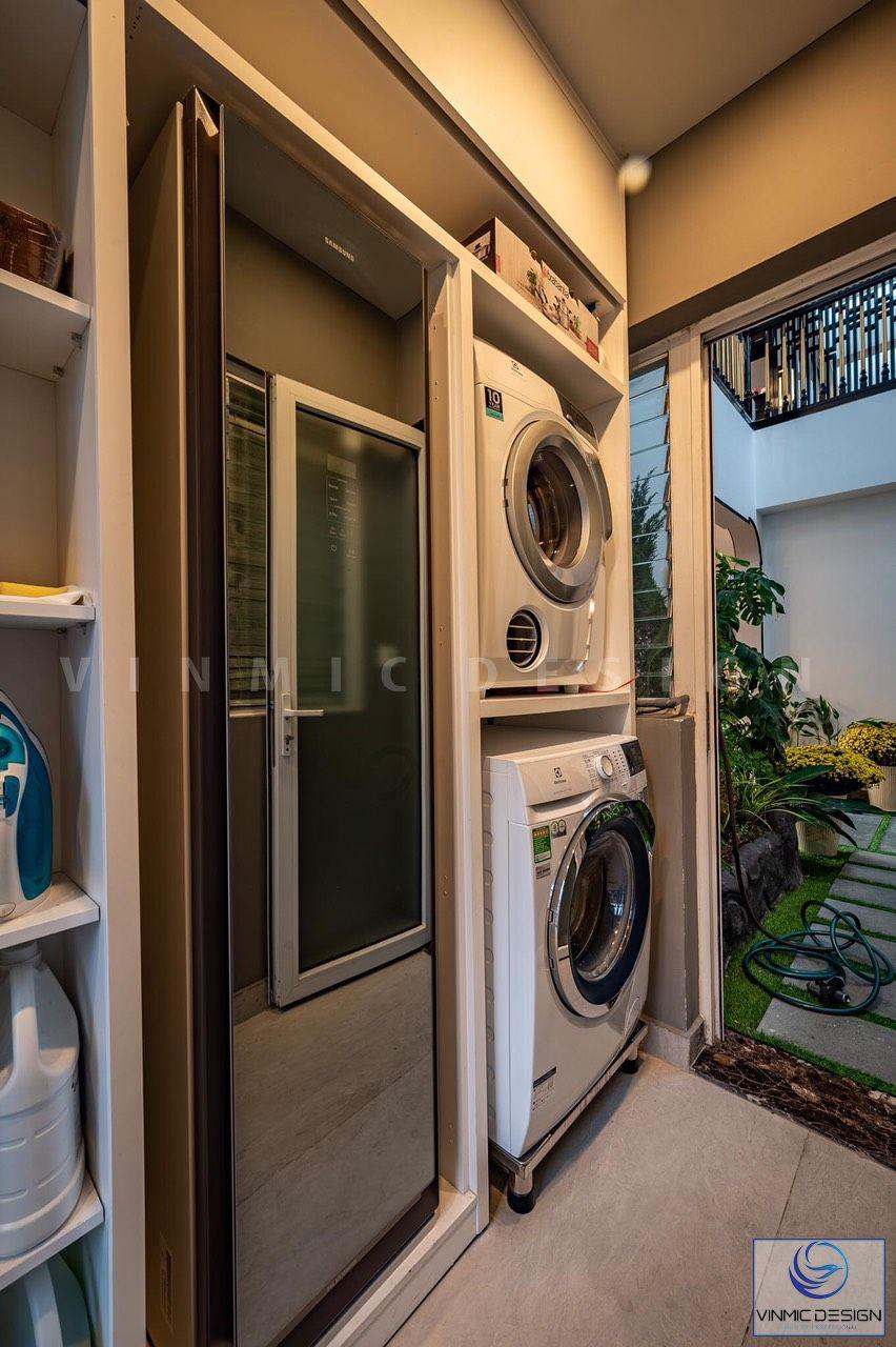 Khu giặt đồ được thi công riêng biệt và tiện lợi