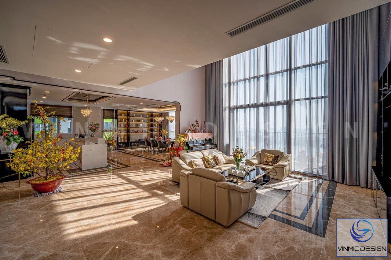 Với cánh cửa sổ lớn, giúp không gian phòng khách được thông thoáng