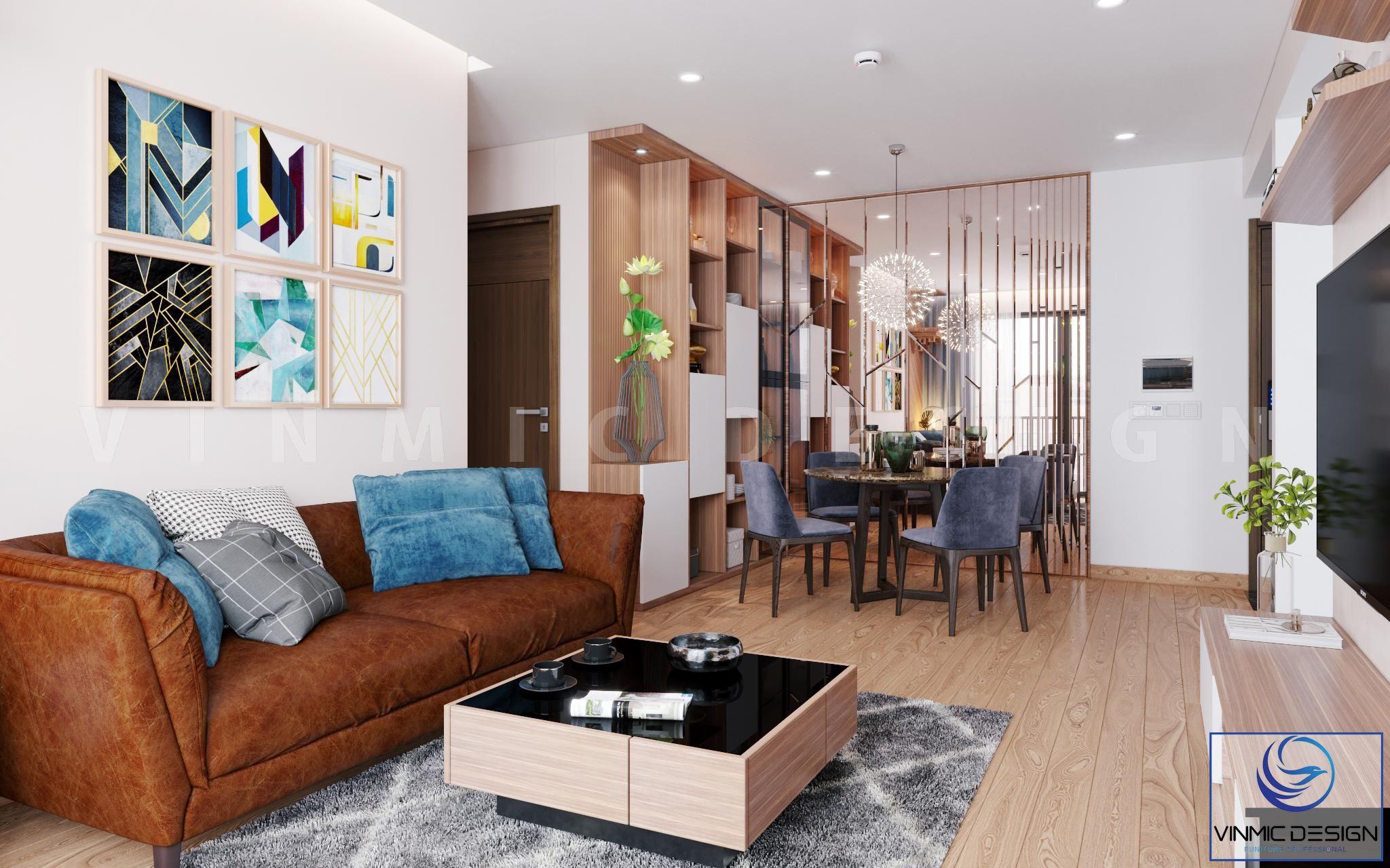 Thiết kế nội thất phòng khách chung cư cao cấp