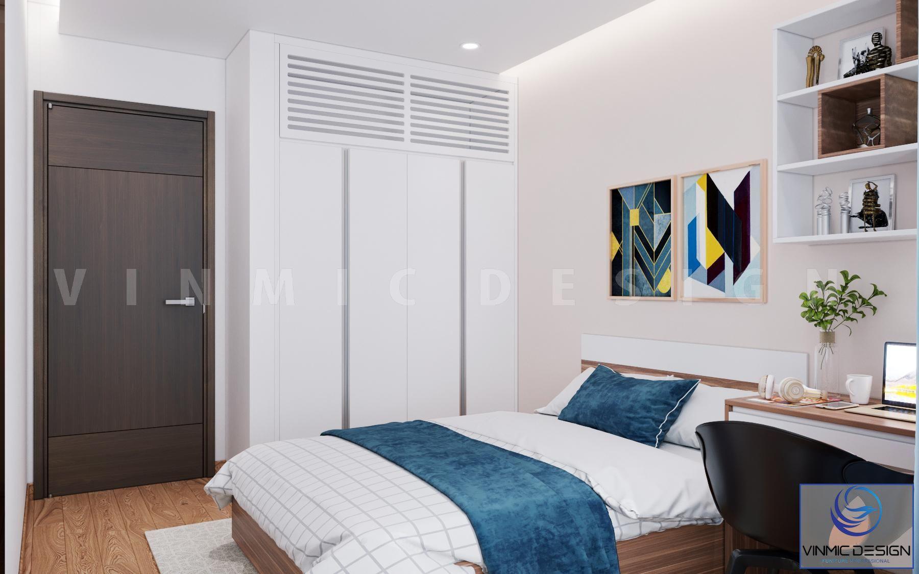 Thiết kế nội thất phòng ngủ căn hộ cao cấp