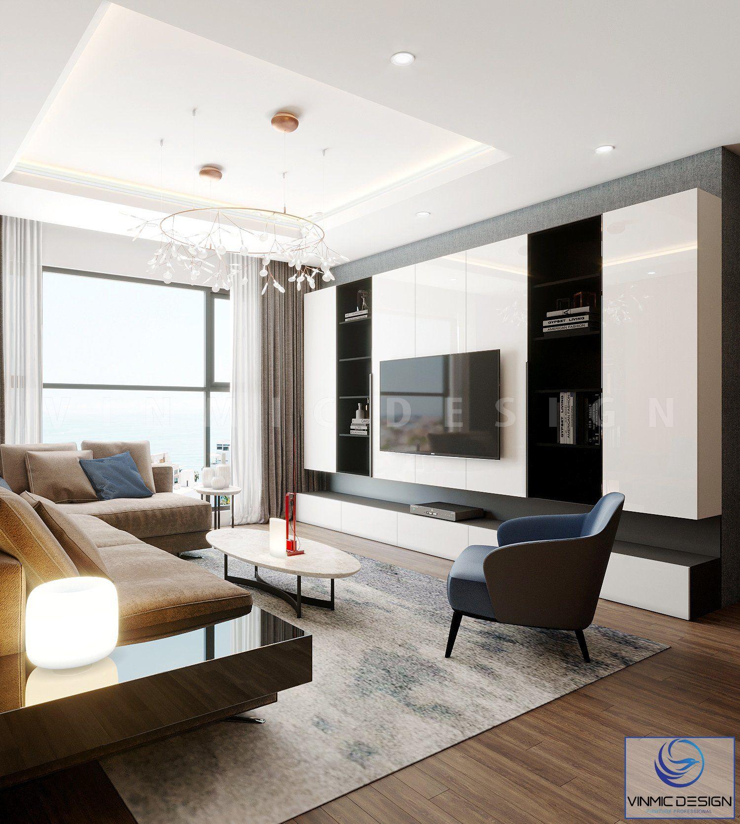 Không gian phòng khách được tận dụng ánh sáng tự nhiên