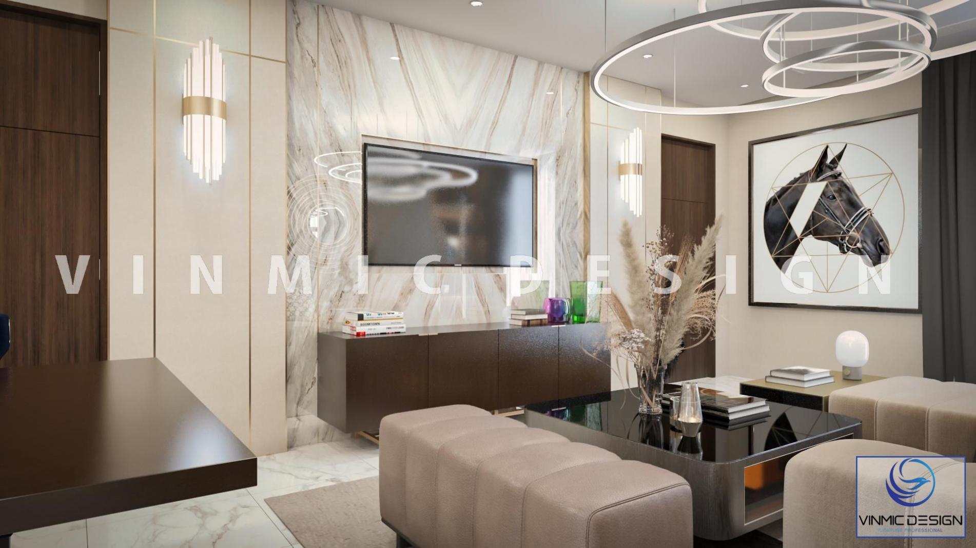 Thiết kế kệ tivi gỗ công nghiệp MDF lõi xanh chống ẩm đơn giản hài hòa cùng đồ nội thất đẹp