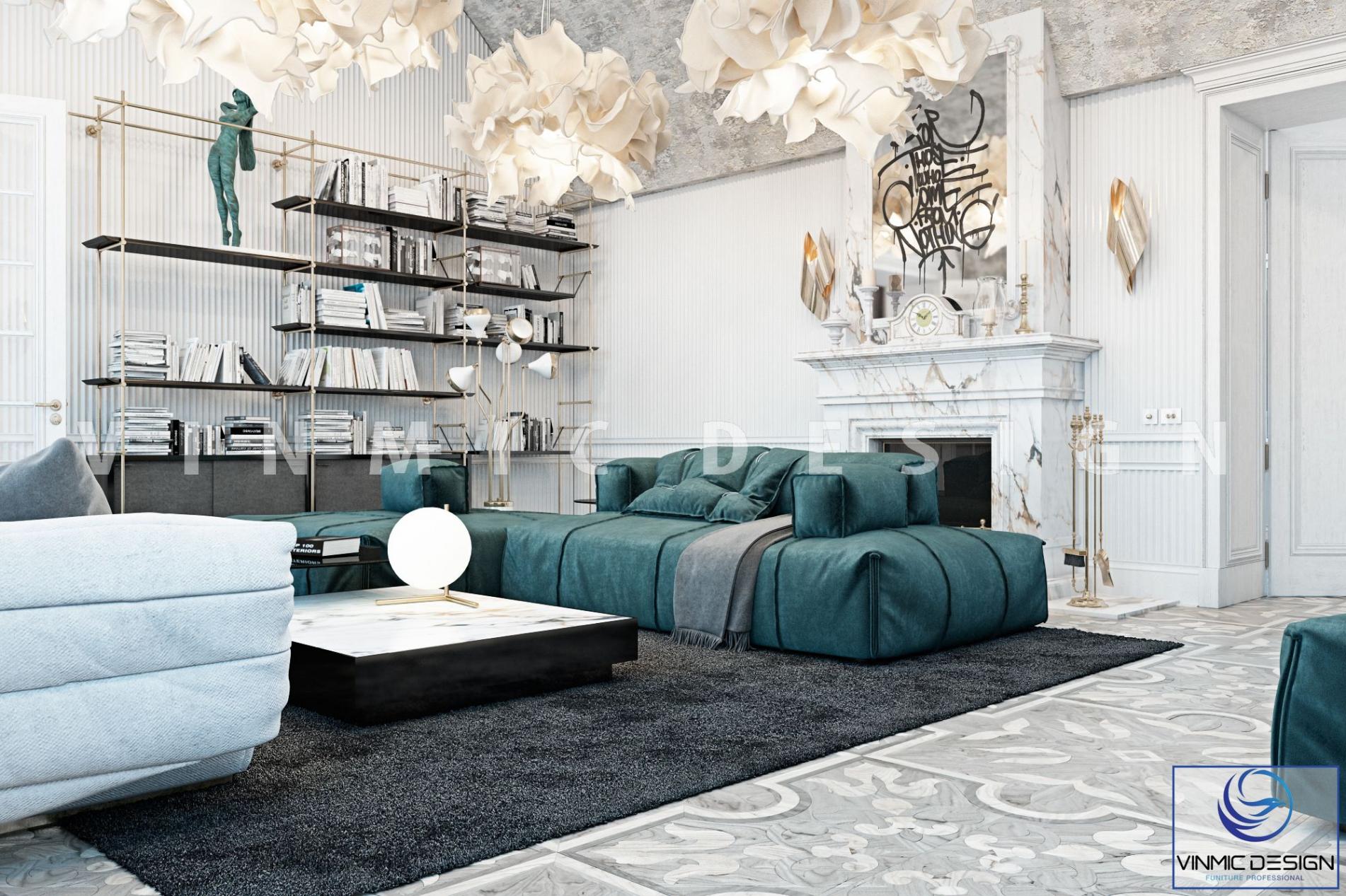 Thiết kế nội thất phòng khách đẹp dành cho biệt thự