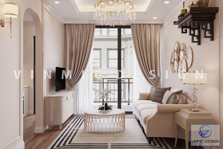 Công trình thiết kế nội thất phòng khách tại chung cư Skylake