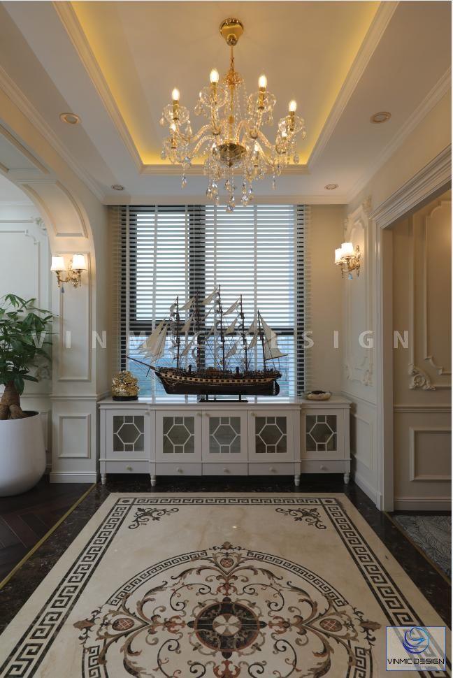 Thi công nội thất phong cách tân cổ điển đẹp tại biệt thự Vinhomes Green Bay Mộc Lan