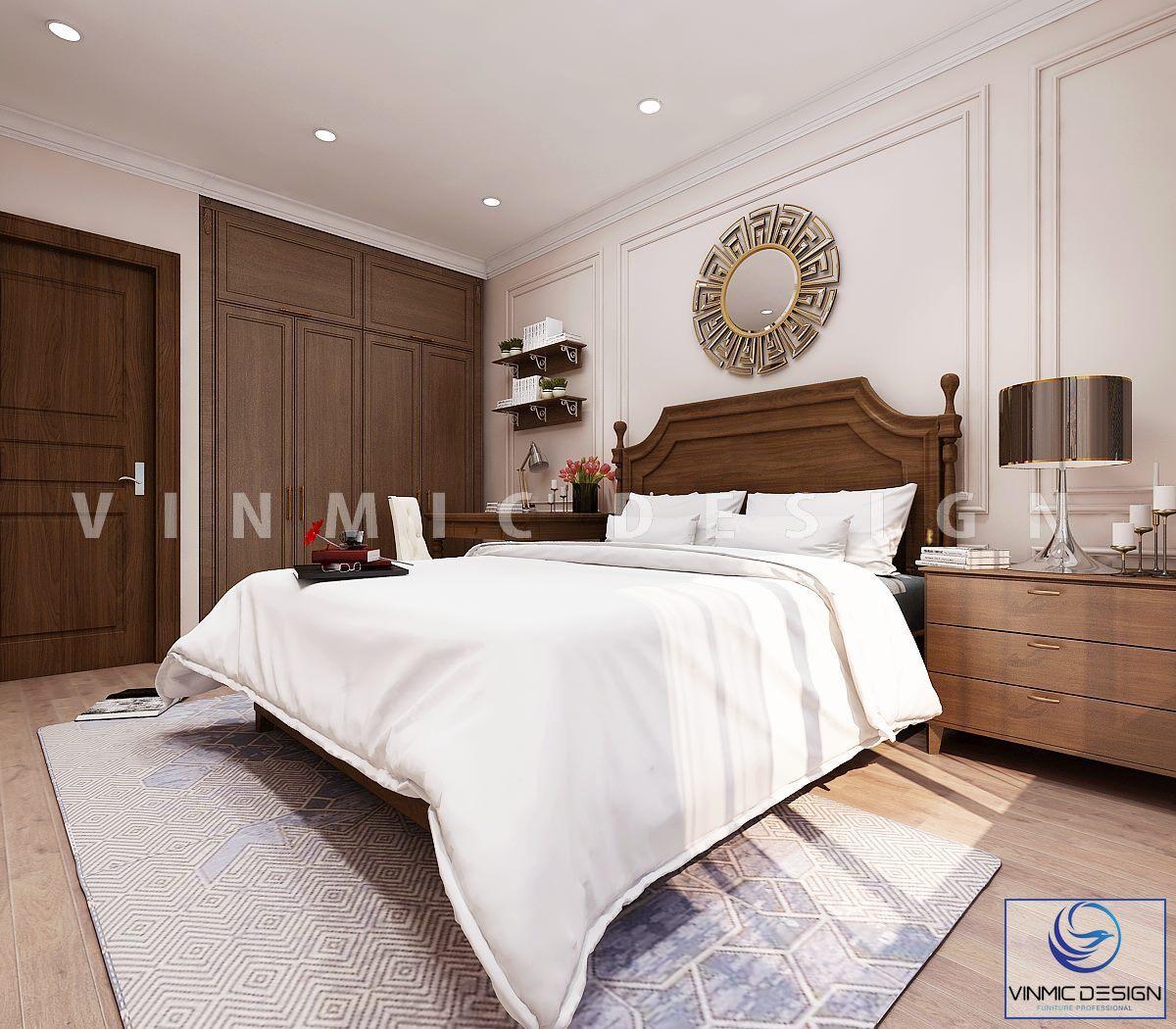 Thiết kế nội thất phòng ngủ đẹp tại biệt thự Vinhomes Imperia Hải Phòng