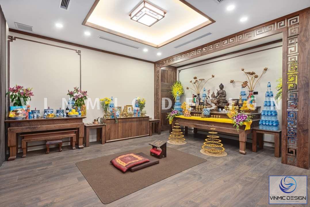 Thi công nội thất phòng thờ đẹp, truyền thống tại biệt thự Vinhomes Star City