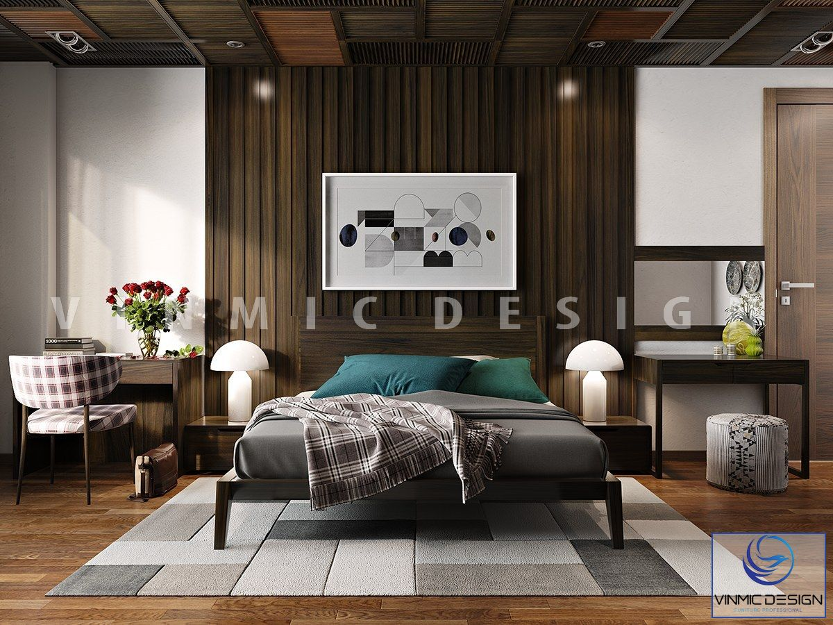 Thiết kế nội thất phòng ngủ hiện đại, giản đơn