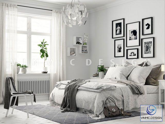 Thiết kế nội thất phòng ngủ phong cách scandinavian trong trẻo