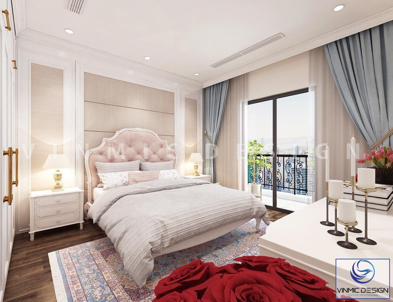 Thiết kế nội thất phòng ngủ cho bé gái phong cách tân cổ điển đầy sang trọng tại biệt thự Vinhomes Imperia Hải Phòng