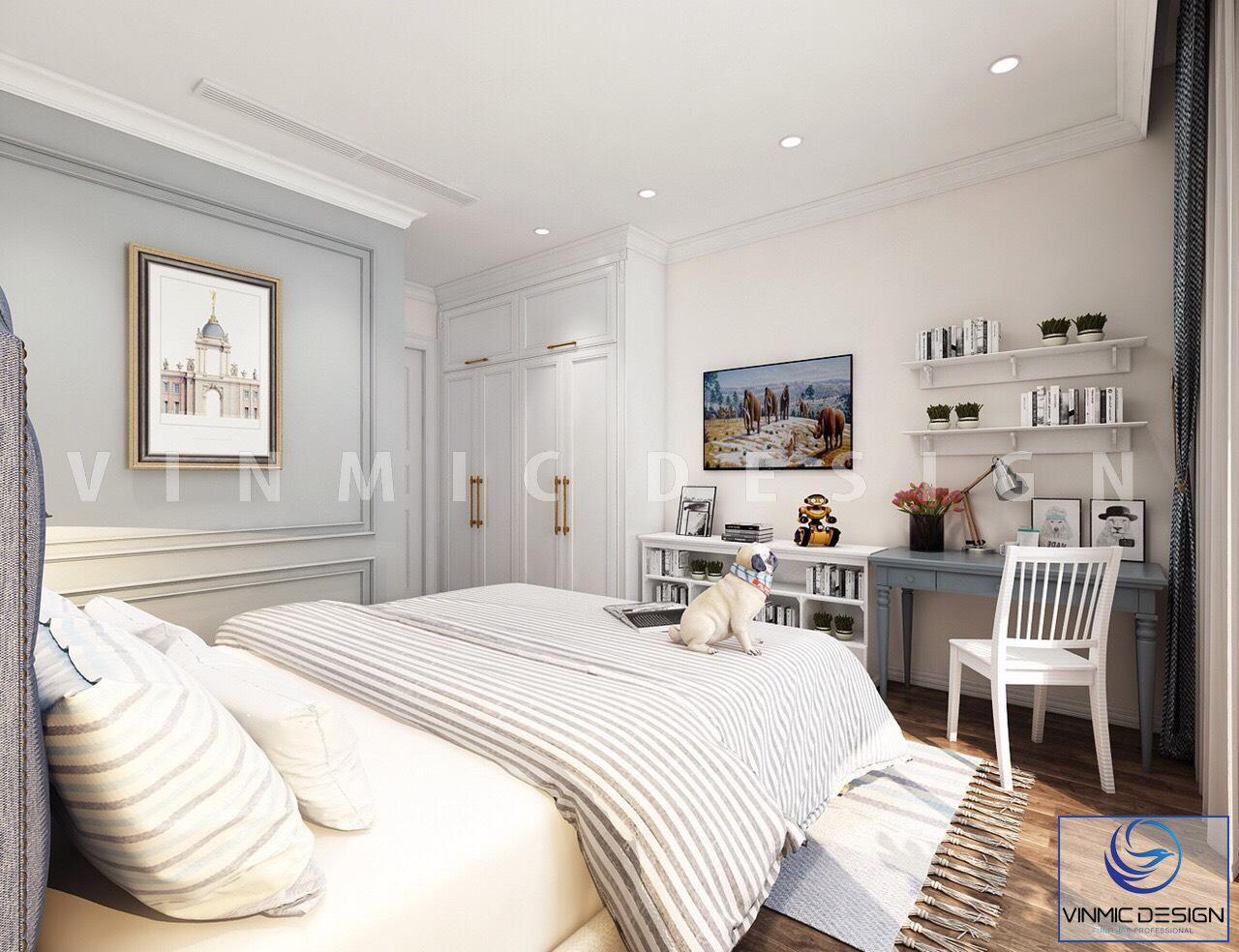 Thiết kế nội thất với chất liệu cao cấp, lối thiết kế phóng khoáng giúp căn phòng trông như rộng hơn