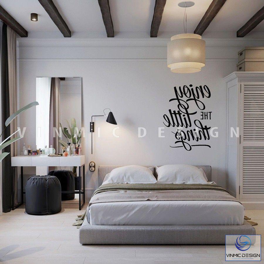 Thiết kế nội thất phòng ngủ phong cách scandinavian tập trung vào sự tối giản nhưng vẫn rất nghệ thuật