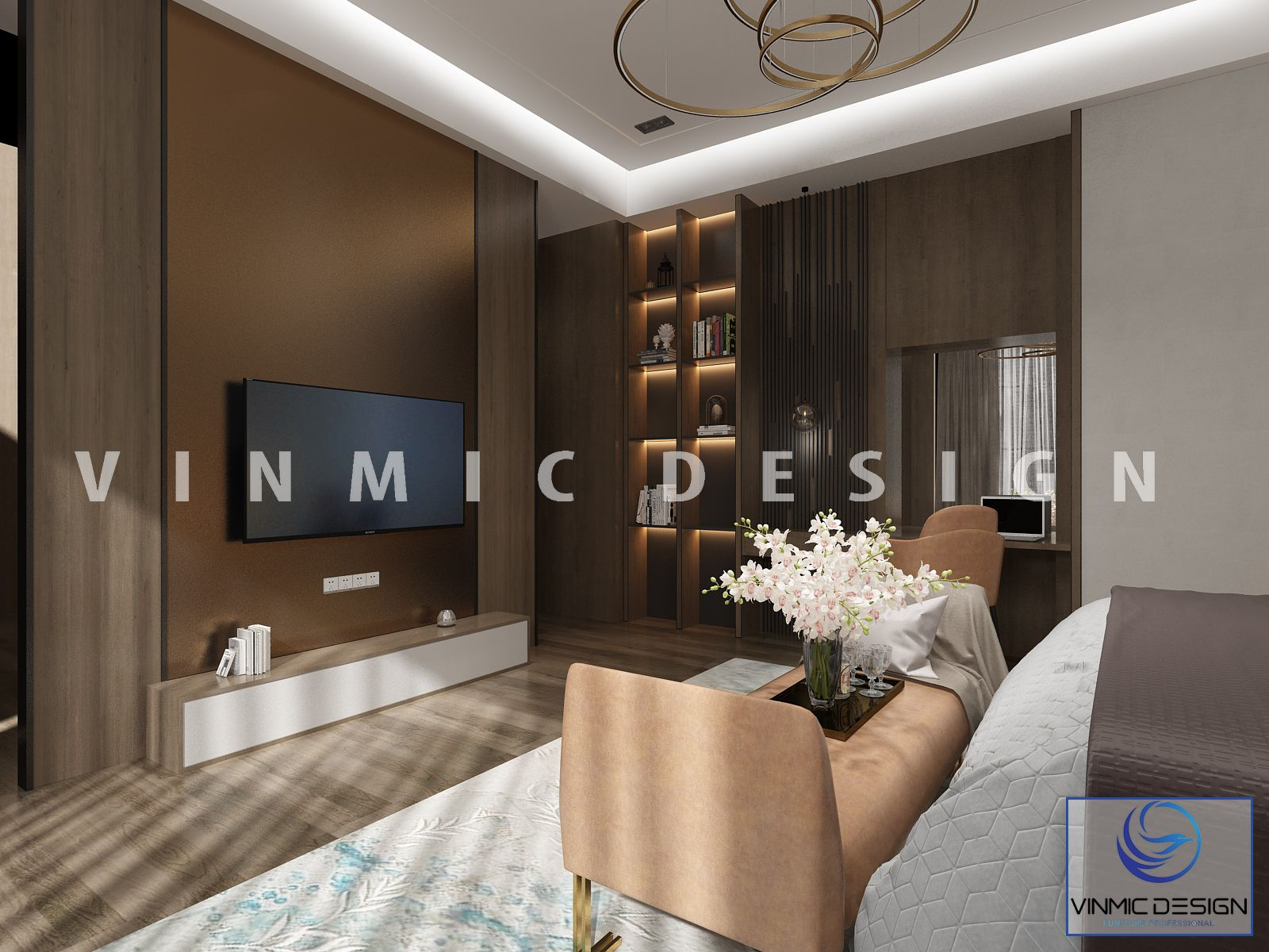 Góc khác trong mẫu thiết kế nội thất phòng ngủ đẹp