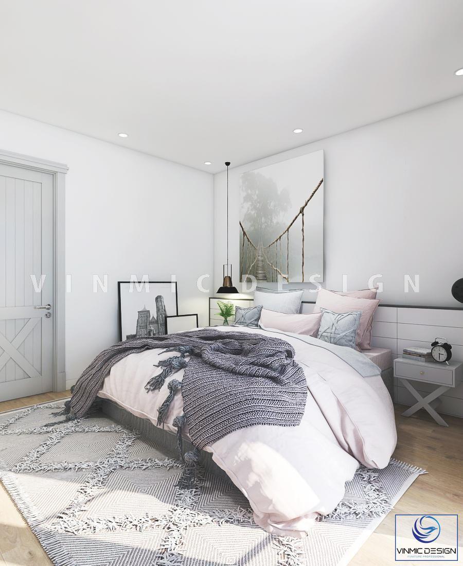 Thiết kế nội thất phòng ngủ phong cách scandinavian đẹp - Nội thất Vinmic