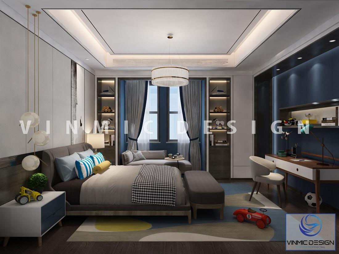 Thiết kế nội thất phòng ngủ hiện đại, tiện nghi