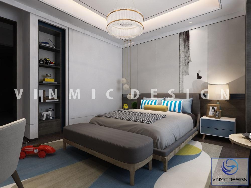 Thiết kế nội thất phòng ngủ đẹp mắt, sang trọng