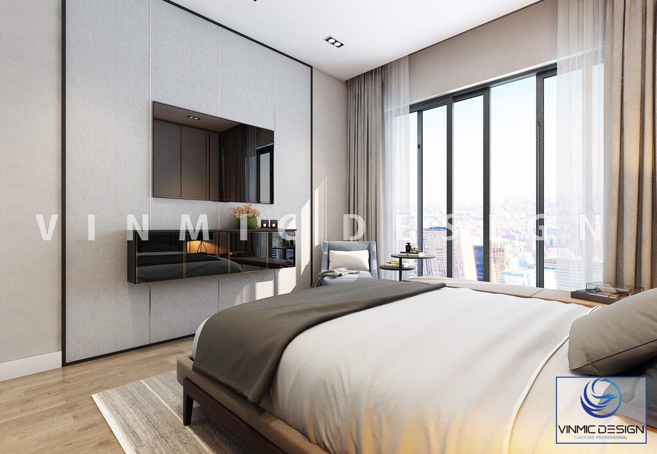 Một góc khác tiện nghi trong phòng ngủ master nhà chị Linh
