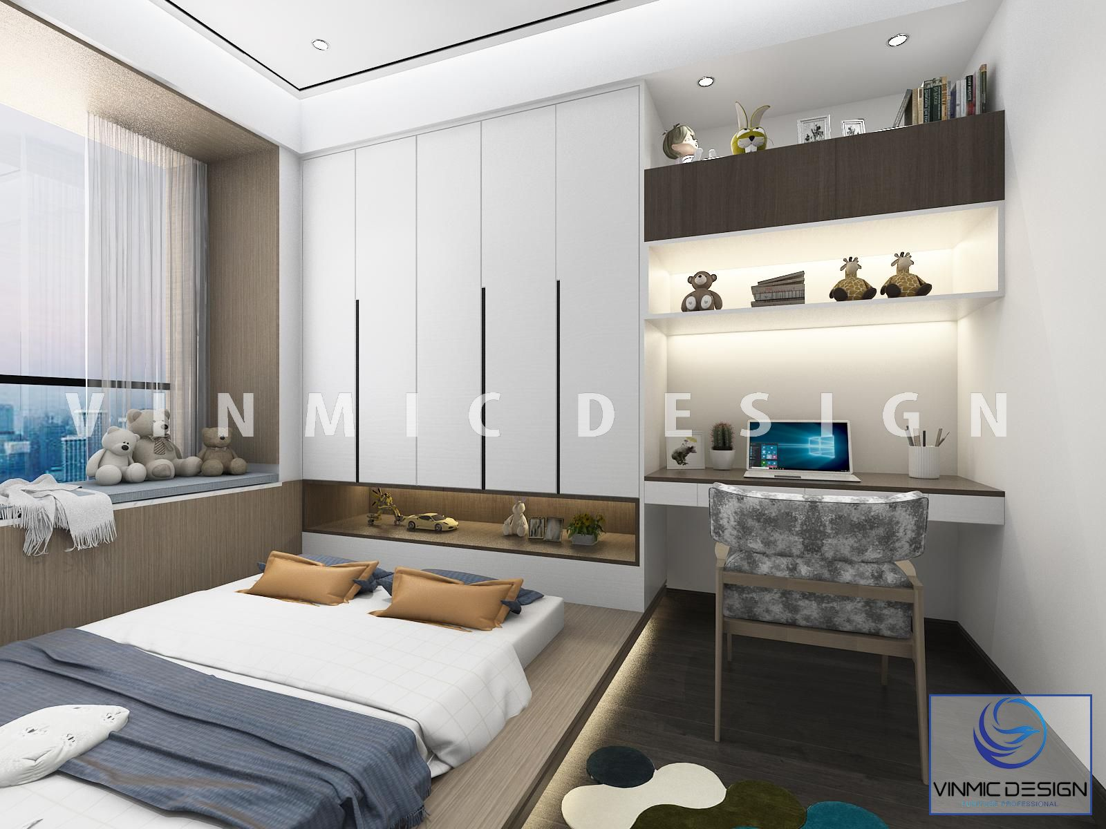 Một góc khác trong mẫu Thiết kế nội thất phòng ngủ hiện đại