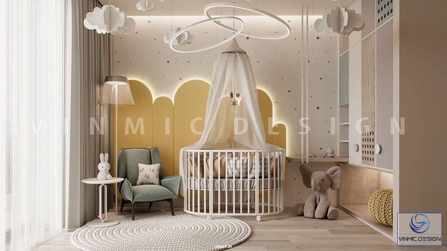 Thiết kế nội thất phòng ngủ bé sơ sinh đẹp