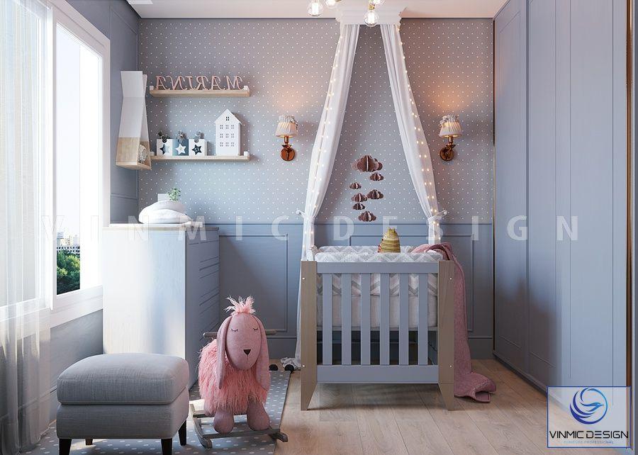Thiết kế phòng ngủ bé sơ sinh - cô công chúa xinh đẹp của bố mẹ