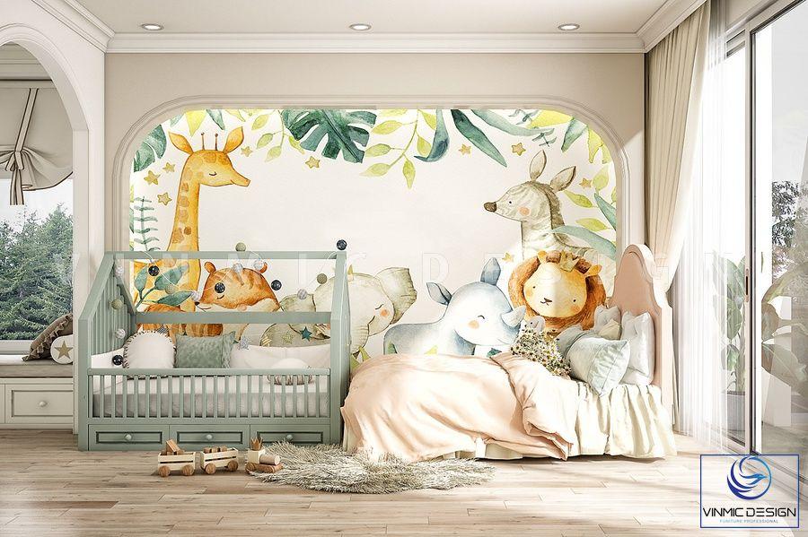 Thiết kế nội thất phòng ngủ cho bé dễ thương, vui nhộn