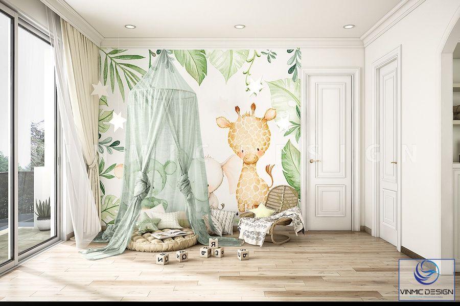 Phòng ngủ bé sơ sinh được thiết kế đáng yêu