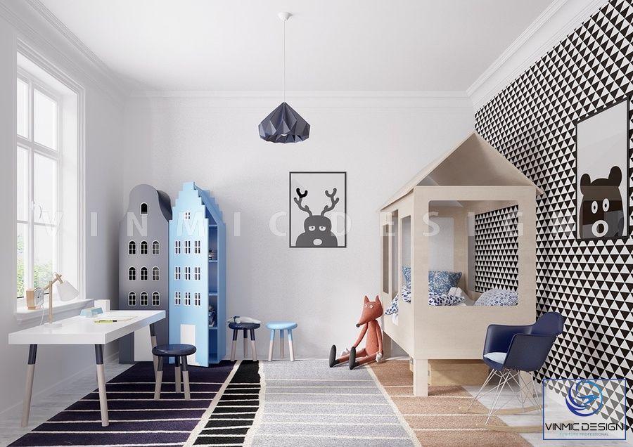 Thiết kế nội thất phòng ngủ đẹp cho bé