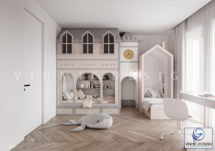 Thiết kế nội thất phòng ngủ cho bé với những câu chuyện cổ tích đẹp