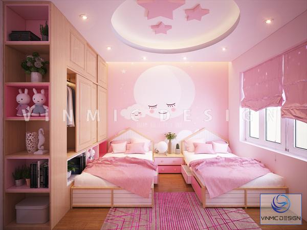 Thiết kế nội thất phòng ngủ cho 2 bé gái nhà chị Linh
