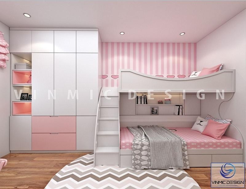 Thiết kế nội thất phòng ngủ sử dụng gỗ công nghiệp MDF lõi xanh, bề mặt Melamine