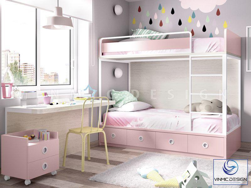Thiết kế nội thất phòng ngủ cho bé sinh đôi đẹp