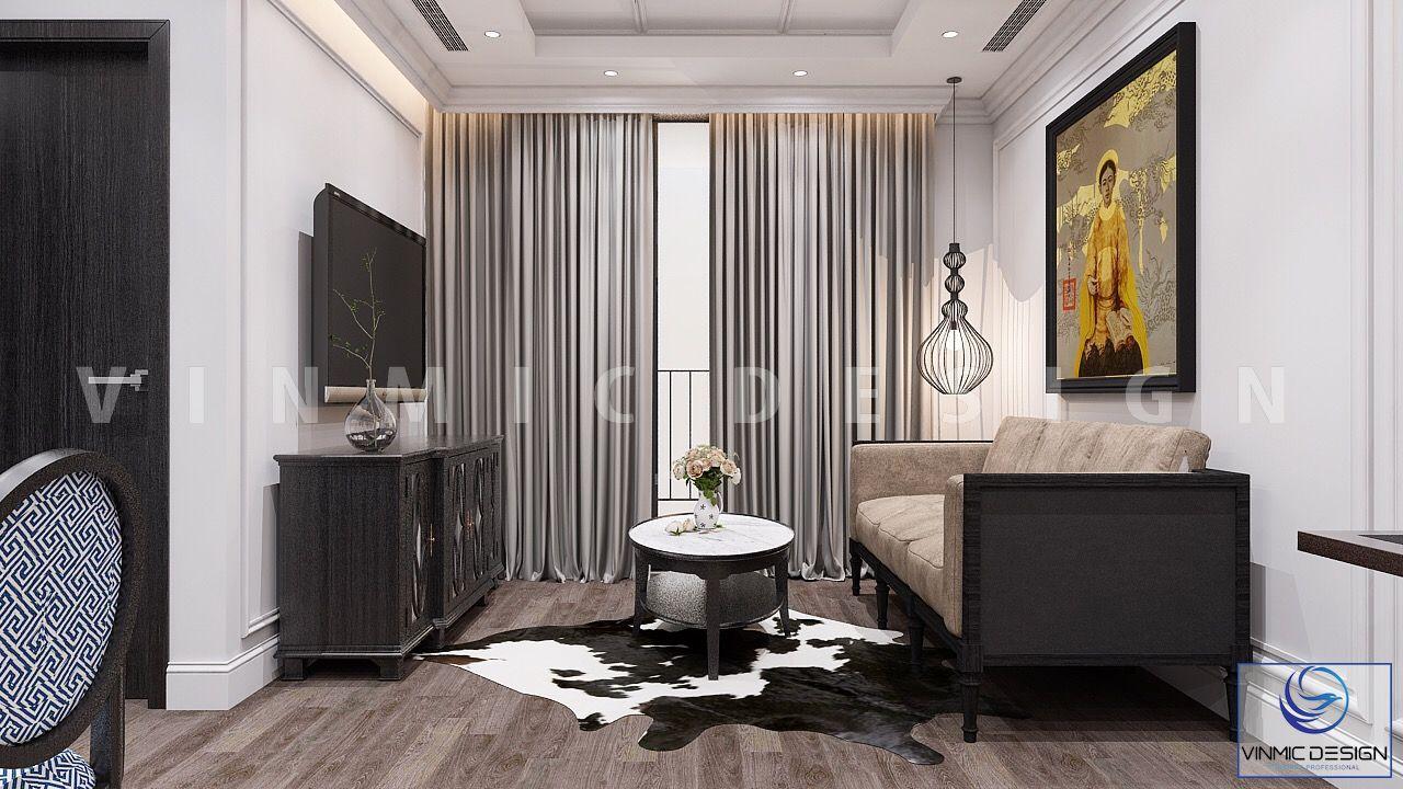 Một góc khác, phòng khách được thiết kế mang cảm giác ấm áp và tinh tế