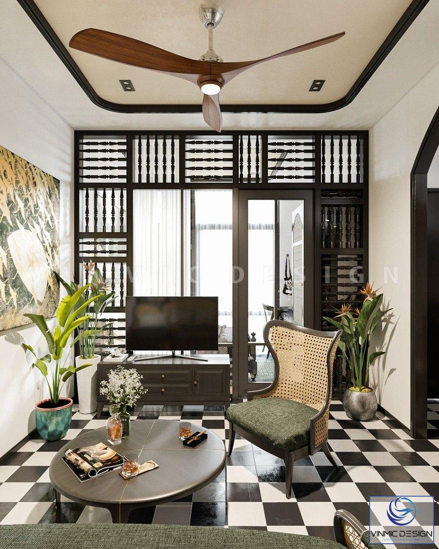 Phòng khách đặc trưng của phong cách Á Đông