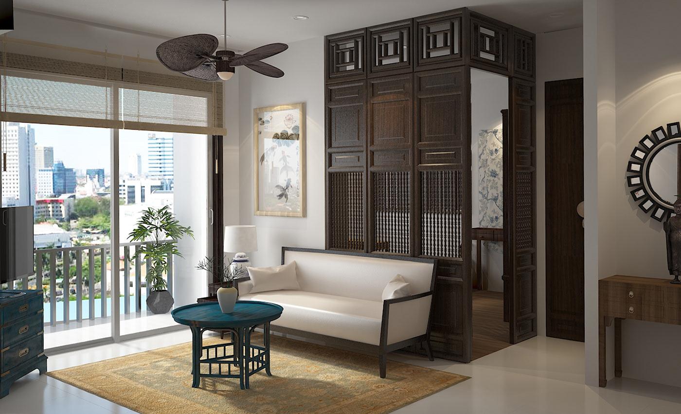 Thiết kế nội thất Á Đông đẹp