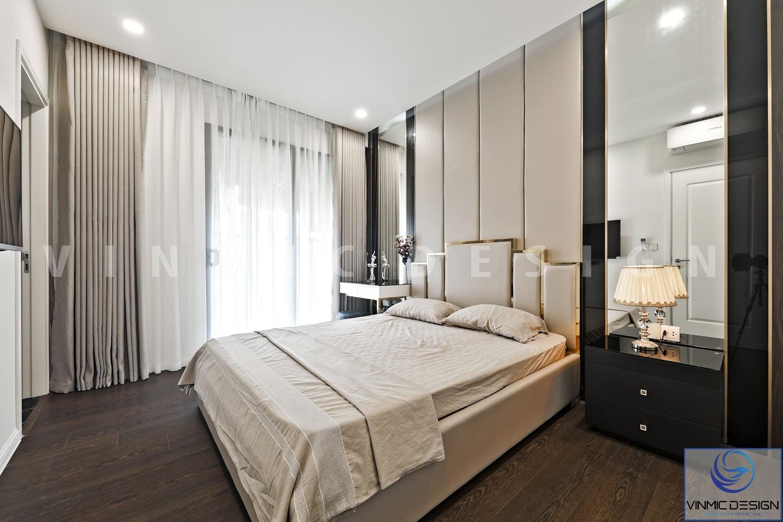 Thi công nội thất phòng ngủ tiện nghi tại căn hộ chung cư Imperia Sky Garden